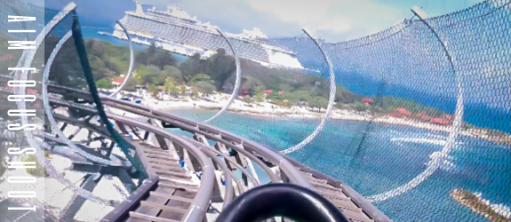 Riding The Dragons Tail Rollercoaster In Labadee Haiti - Roller coaster on a cruise ship