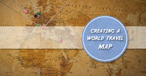 Creating a cork board travel map with photos – Cork Board World Travel Map
